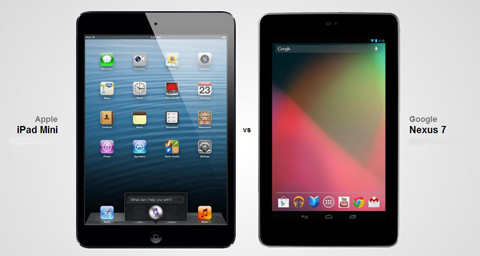 Apple iPad Mini vs. Google Nexus 7 specs comparison