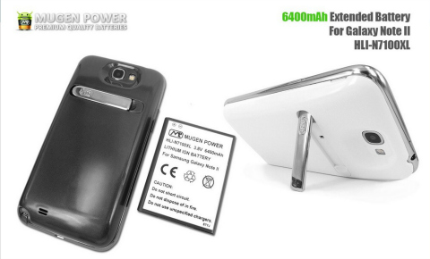 Mugen Power outs 6400mAh battery for Galaxy Note 2