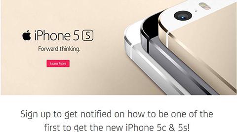 smart iphone 5s preorder
