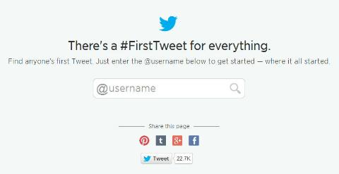 twitter first tweet