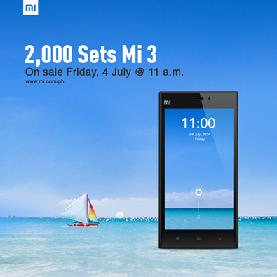 Xiaomi Mi 3 to go on sale again on July 4