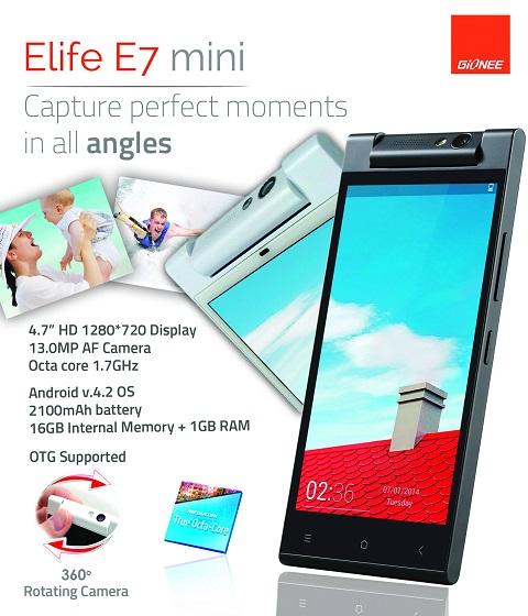 Gionee Elife E7 Mini Philippines