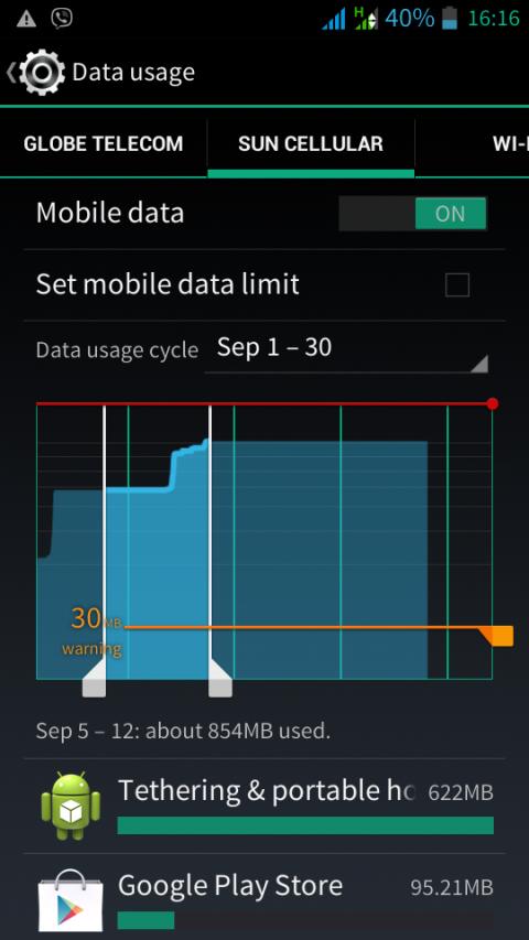 DataUsageScreenShot