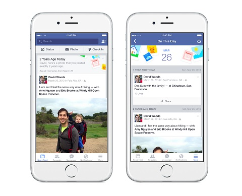 Facebook introduces On This Day feature