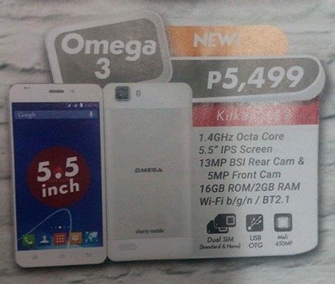 cherry mobile omega 3