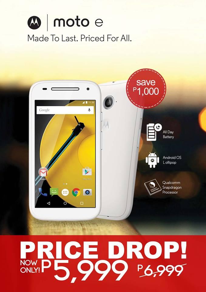 Motorola Moto E now priced at Php6K - YugaTech   Philippines Tech