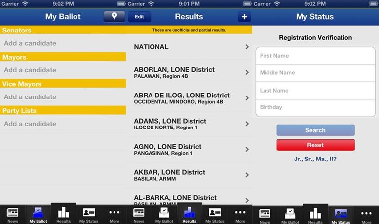 comelec-app-screenshots