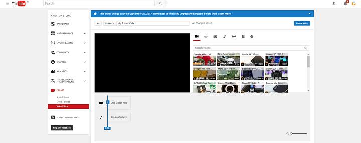 youtube edit video