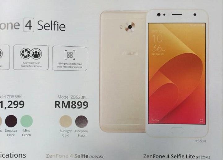 42db2276e ASUS ZenFone 4 Selfie Lite spotted in Malaysia - YugaTech ...