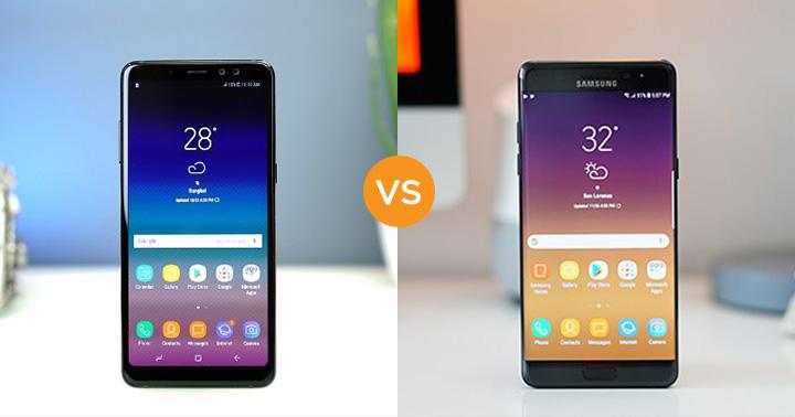 Specs Comparison Samsung Galaxy A8 2018 Vs Note Fe Yugatech